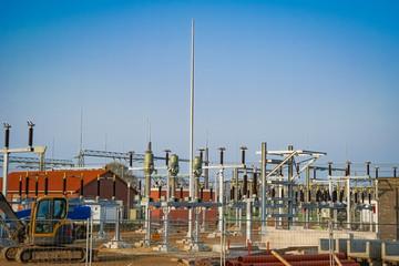 Netzausbau - Bau eines Umspannwerkes für Stromversorgung