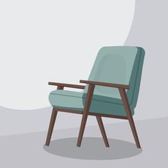Chair cartoon, isolated vector illustration, template for animatoin