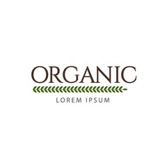 Organic Logo Vector Template Design