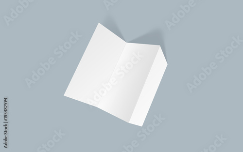 tri fold brochure mock up blank brochure white template paper on