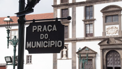 Madeira Funchal Zentrum Praca do Municipio 1