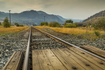 Railway line near Kamloops, British Columbia, Canada