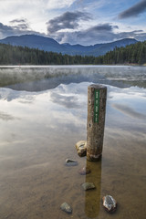 Mist over Lost Lake, British Columbia, Canada
