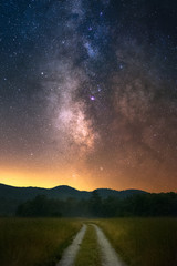 The Milky Way over the White Mountains of New Hampshire