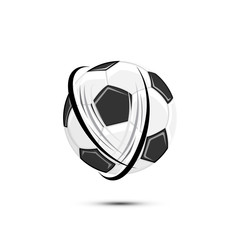 Realistic Soccer ball for soccer . Ball isolated on white background with shadow. Flat vector Illustration. Football sports elements