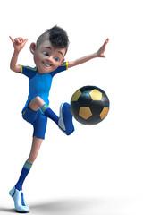 footballer boy cartoon