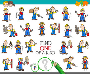 find one of a kind game with worker characters