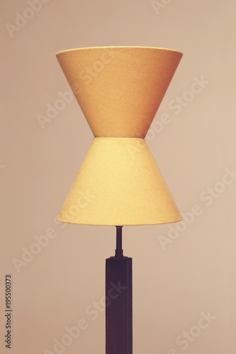 décoration lampe avec double abat-jour\