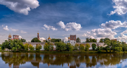 Panorama of the Novodevichy Convent in Moscow