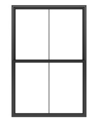 black metallic window isolated on white background