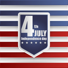 4th of july American independence day badges. Vector illustration.