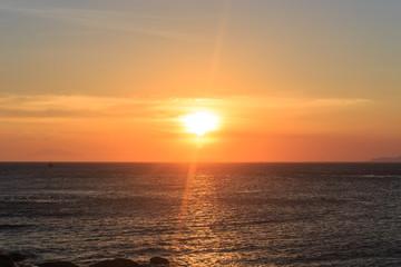 Scenic view of sunset muine