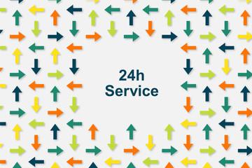 Wallpaper Pfeile - 24h Service