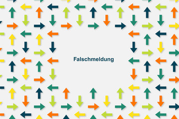 Wallpaper Pfeile - Falschmeldung