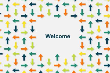 Wallpaper Pfeile - Welcome