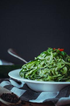 Tagliatelle of Zucchini
