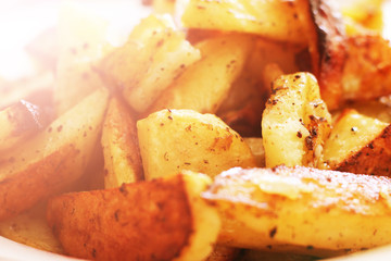 Fried potatoes with a Golden crust