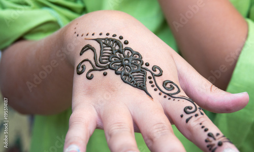 Henna Tattoo On A Hand And Finger Floral Motif Drawing Henna Being