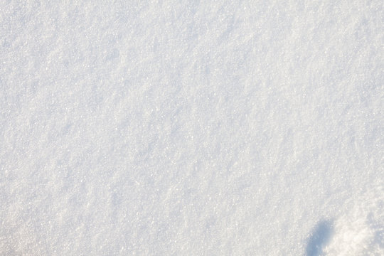 top view of fresh snow on the ground texture