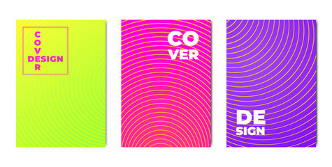 Set of bright colorful backgrounds for poster, banner, leaflet and other design