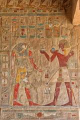 Printed roller blinds Egypt Hieroglyphics at Hatshepsut Temple Luxor