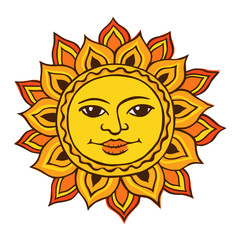 Ethnic drawing of the sun