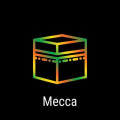 Mecca, Makkah, Saudi Arabia Vector Line Icon