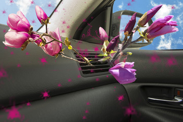 air conductors car magnolia flower aroma