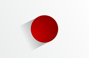 Creative Abstract Flag of Japan Background