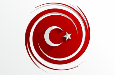 Creative Abstract Flag of Turkey Background