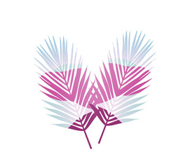Colorful silhouette of palms. Illustration Design
