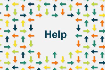 Wallpaper Pfeile - Help