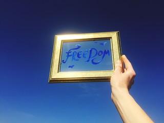 libertà cornice cielo blu