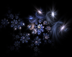 Abstract Christmas decoration background in blue color.