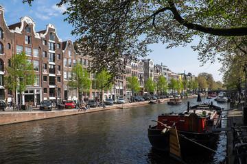 Häuserzeile an Amsterdamer Gracht
