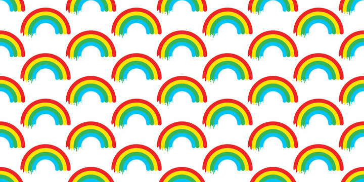 rainbow seamless pattern vector isolated sky colorful wallpaper background
