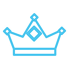 king crown royal authority classic vector illustration blue neon
