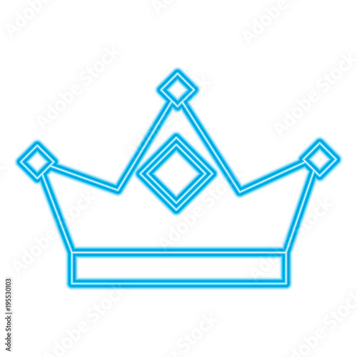 king crown royal authority classic vector illustration blue
