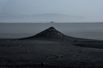 Icelandic winter landscape, from different locations, Iceland.