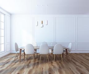 White boardroom interior