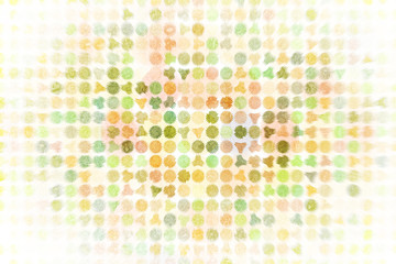 Generative circle or ellipse pixel mosaic for design wallpaper, texture or background.