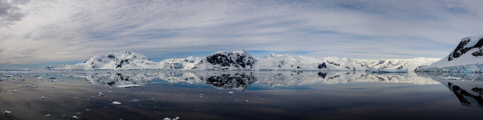Antarctic seascape with reflection