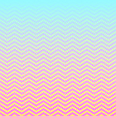 Pink Aqua Yellow Ombre Chevron Vector Pattern. Magical Neon Colored Background. Gradient Fade Texture. Zigzag Stripes Blending into Solid Color. Horizontally Seamless Pattern Tile Swatch Included.