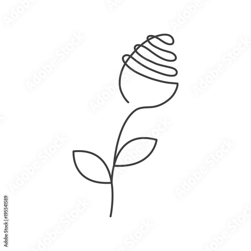 Single Line Drawing Flowers : Quot continuous line rose with leaves abstract modern