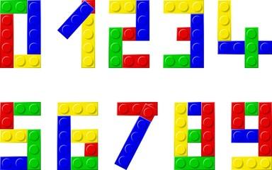 alphabet with plastic blocks
