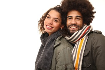 Afro love couple