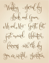 Vintage wedding calligraphy