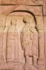 Statue  in Andlau church, France.