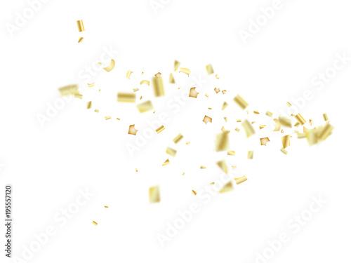 vector golden tinsel festival confetti birthday christmas new year party celebration firework decor