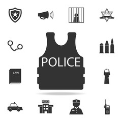 Alarm siren vector icon. Detailed set of police element icons. Premium quality graphic design. One of the collection icons for websites, web design, mobile app